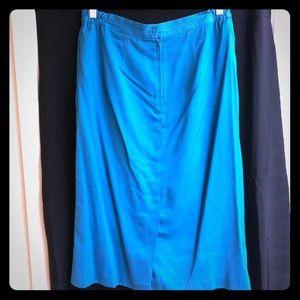 💐NEW💐VTG plus size turquoise pencil skirt